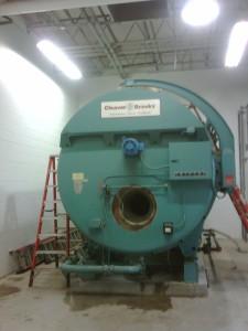 Large boiler installation